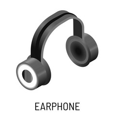 earphone music listening device isolated object vector image