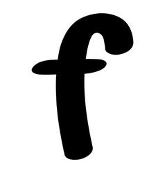 f small silhouette vector image