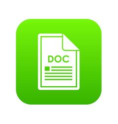file doc icon digital green vector image