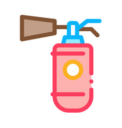 fire extinguisher device icon outline vector image