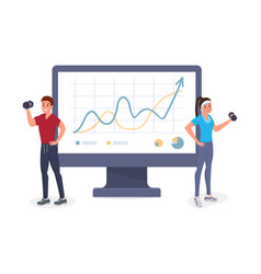 fitness growth rate flat vector image