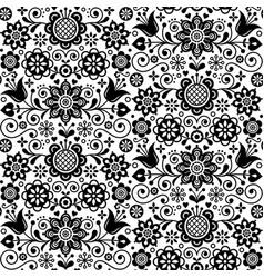 Floral nordic seamless folk art pattern vector