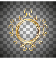 gold frame with an ornament vector image
