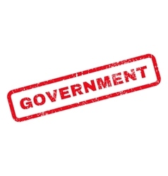 Government Text Rubber Stamp vector