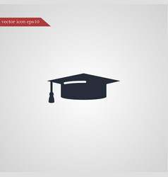 graduation cap icon education vector image