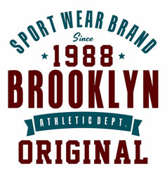 Graphic design sport wear brand for t-shirts vector