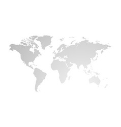 gray hatched map of the world vector image