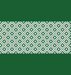 Green tribal ethnic aztec style vector