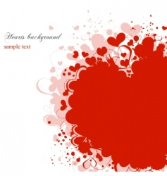 grunge hearts background vector image