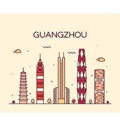 Guangzhou skyline linear vector