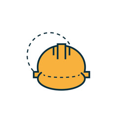 helmet protection work tools engineering icon vector image