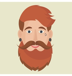 Hipster freak icon vector image