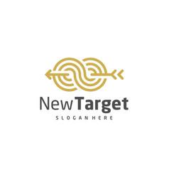 Infinity target logo template creative target vector