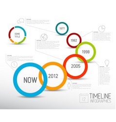 Infographic light timeline report template with vector