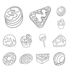 isolated object of sweet and product icon vector image