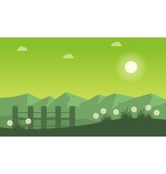 Landscape of spring on green backgrounds vector