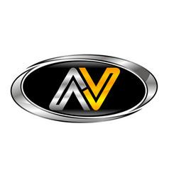 letter av modern vector image