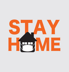 letters stay home vector image