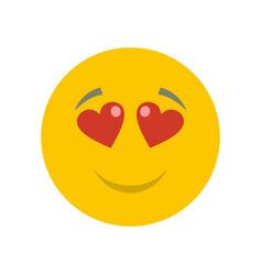 Love smile icon flat vector