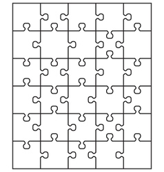 Middle white puzzle vector