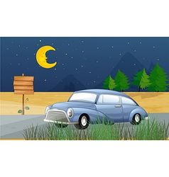 Midnight Car Ride vector