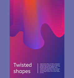 Modern cover with twisting shape element trendy vector