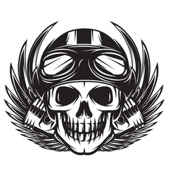 monochrome on a motorcycle vector image