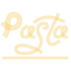 noodles silhouette italian spaghetti or boiled vector image