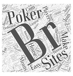Online poker sites word cloud concept vector