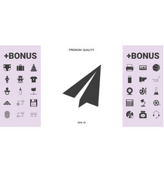 paper airplane icon - graphic elements for your vector image