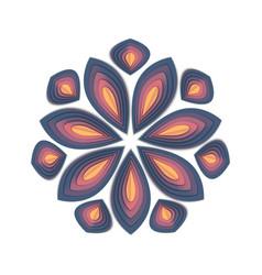Paper cut flower vector