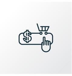 Pay per click icon line symbol premium quality vector