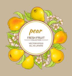 Pears frame vector
