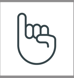 pinky promise icon finger trustworthy swear vector image