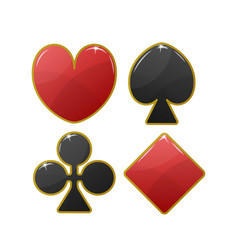 playing card suit icon vector image