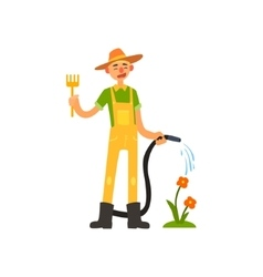 Profession Gardener vector image