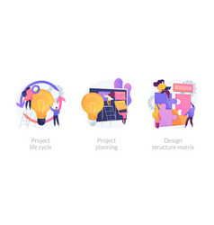 project life cycle abstract concept vector image