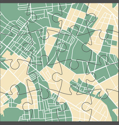 puzzle city map vector image