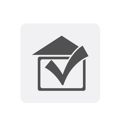 Quality control at home icon with real estate sign vector