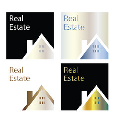 real estate company logos - house logo template vector image
