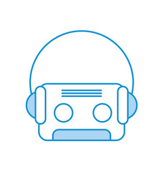 retro cassette with earphones vector image