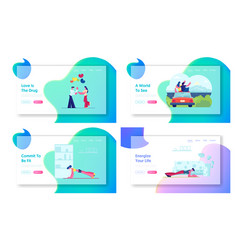 romantic balloons date couple travel sport at vector image