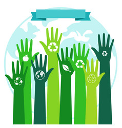 save world ecology environmental concept green vector image