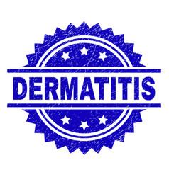 Scratched textured dermatitis stamp seal vector