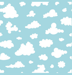 seamless pattern clouds on blue sky vector image
