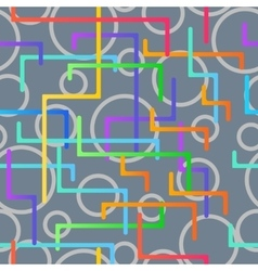 Seamless pattern from the scattered geometrical vector image