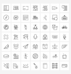 Set 49 ui icons and symbols for forest vector