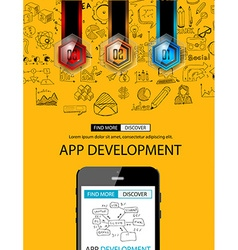 Sketch Circular appDevelppment vector