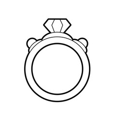 Sketch silhouette image diamond engagement ring vector
