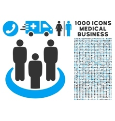 Social Group Icon with 1000 Medical Business vector image